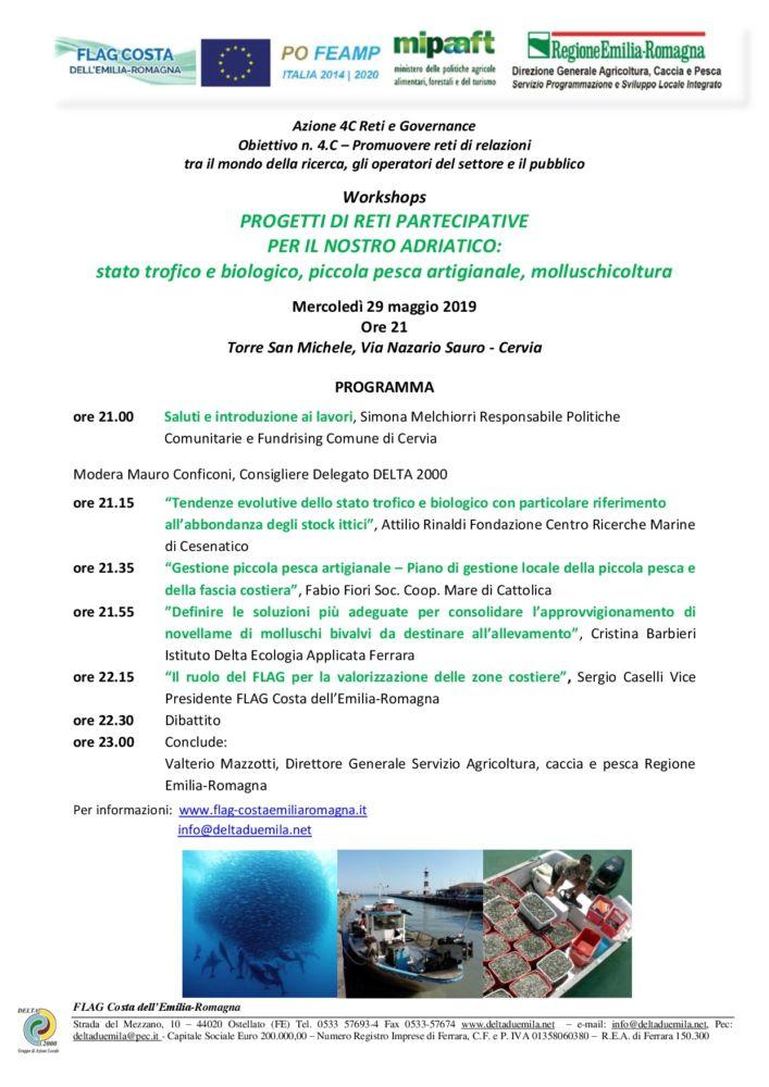 Progetti di reti partecipative: Workshops a Cervia il 29 maggio