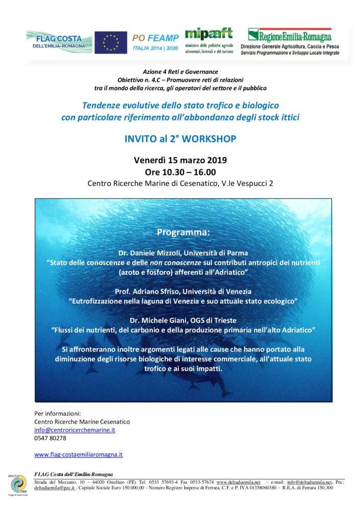 Gruppi di lavoro partecipativi: Tendenze evolutive dello stato trofico e biologico - CESENATICO 15 marzo 2019