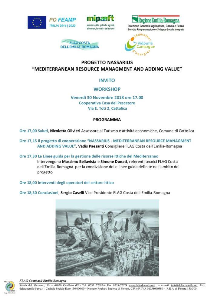 """WORKSHOP """"NASSARIUS - MEDITERRANEAN RESOURCE MANAGEMENT AND ADDING VALUE"""""""