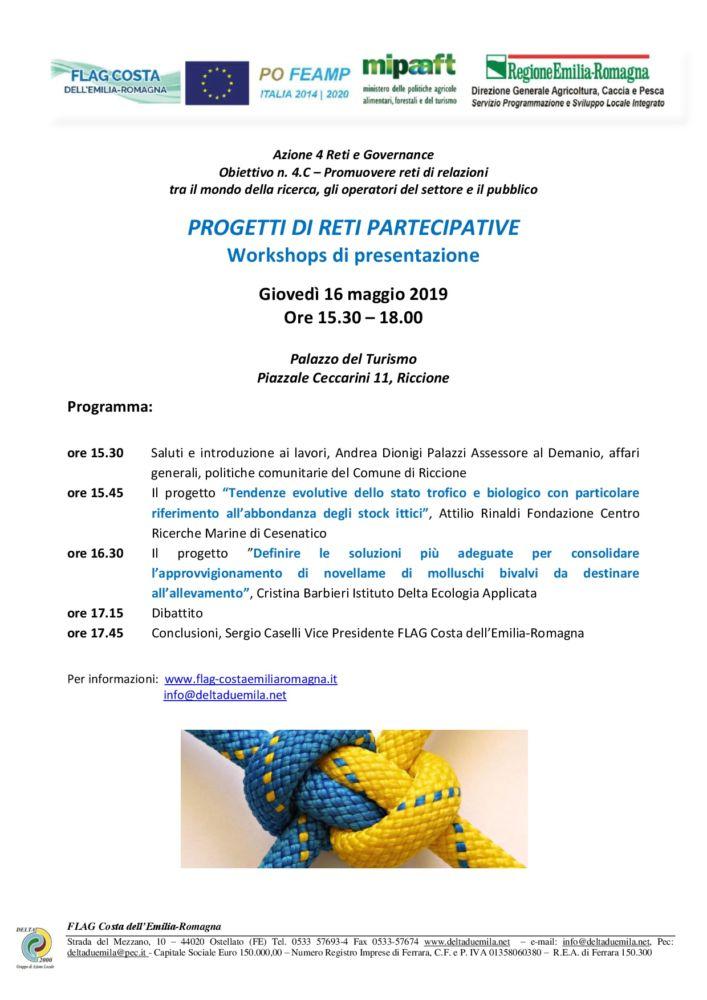 Gruppi di lavoro partecipativi: Incontro con le Reti a Riccione 16 05 2019