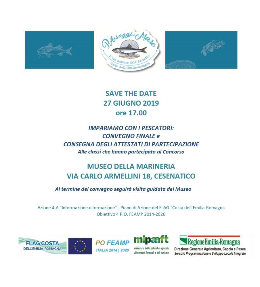 """SAVE THE DATE: """"L'Oro azzurro dell'Adriatico"""" 27 giugno a Cesenatico"""