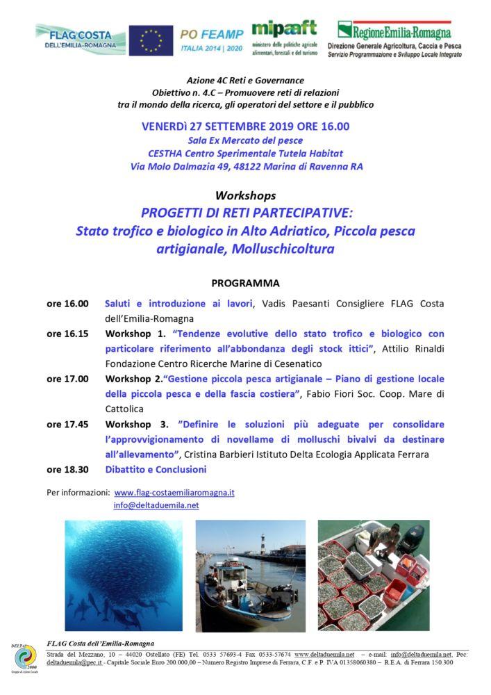 Progetti di reti partecipative: Workshops a Marina di Ravenna 27 settembre ore 16.00