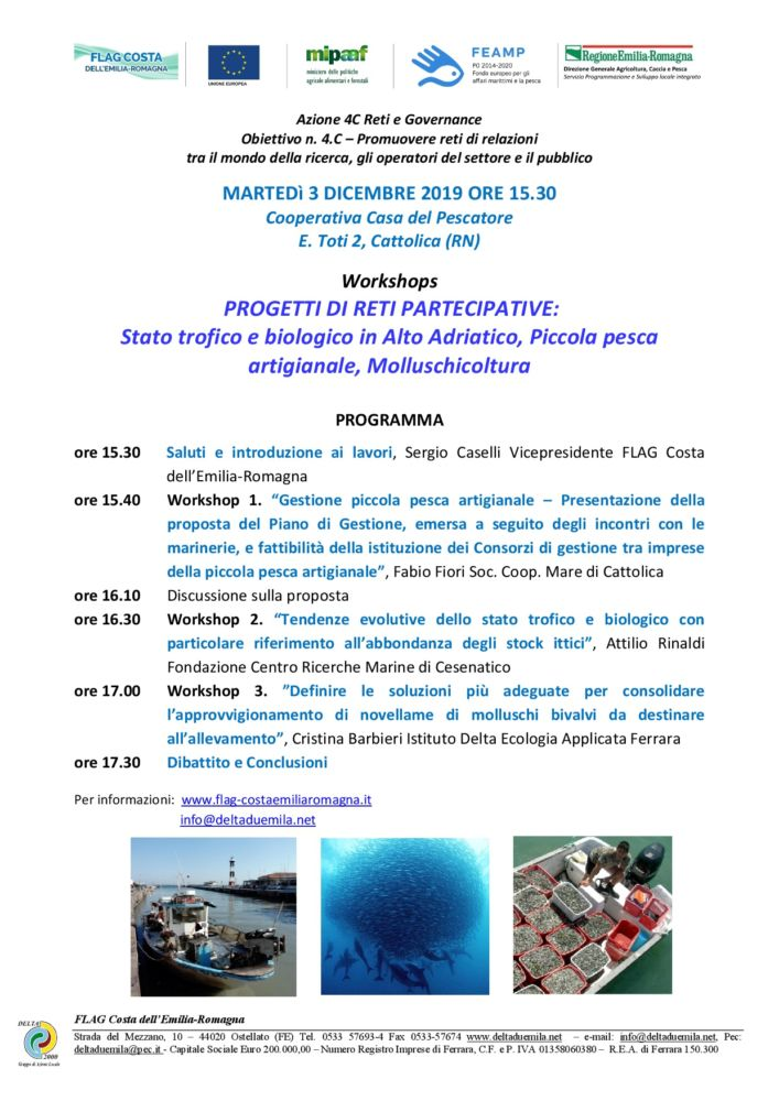 Progetti di reti partecipative: Workshops a Cattolica il 3 dicembre ore 15.30