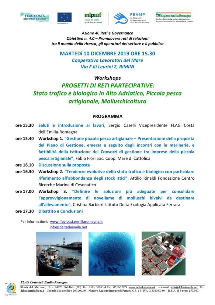 Progetti di reti partecipative: Workshops a RIMINI il 10 dicembre ore 15.30