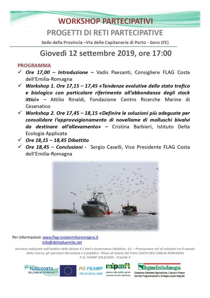 Progetti di reti partecipative: Workshops a Goro 12 settembre ore 17.00