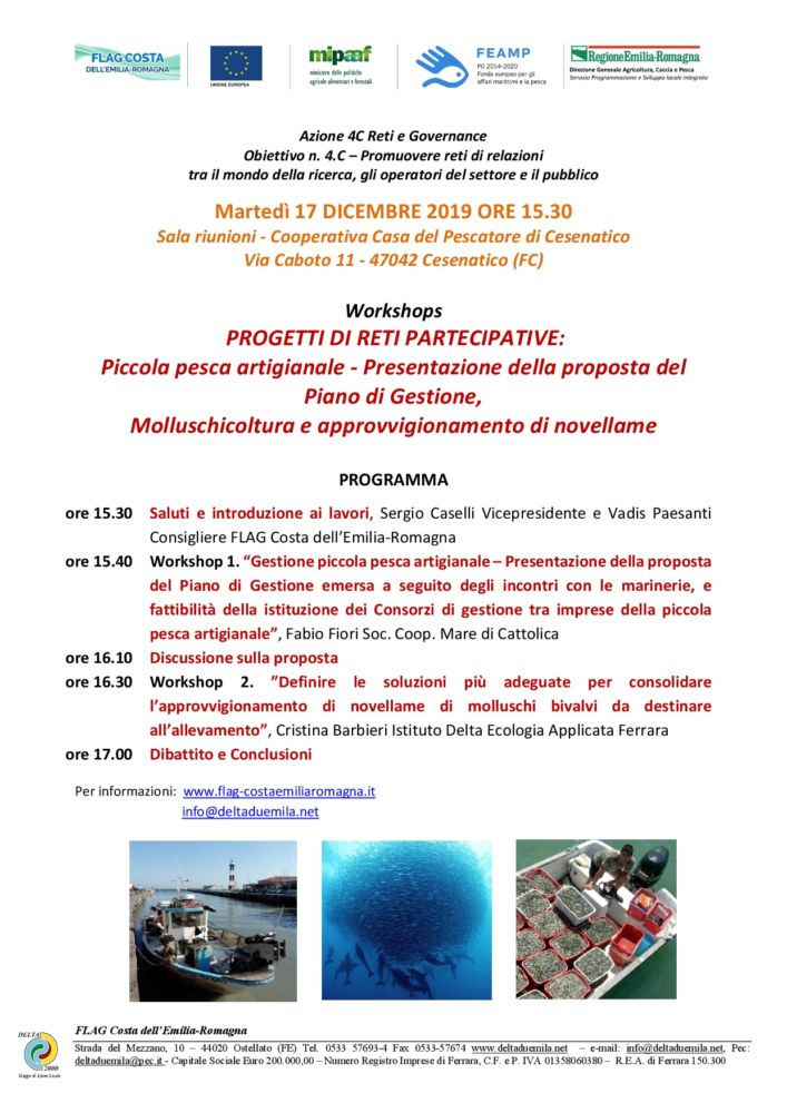 Progetti di reti partecipative: Workshops a CESENATICO il 17 dicembre ore 15.30