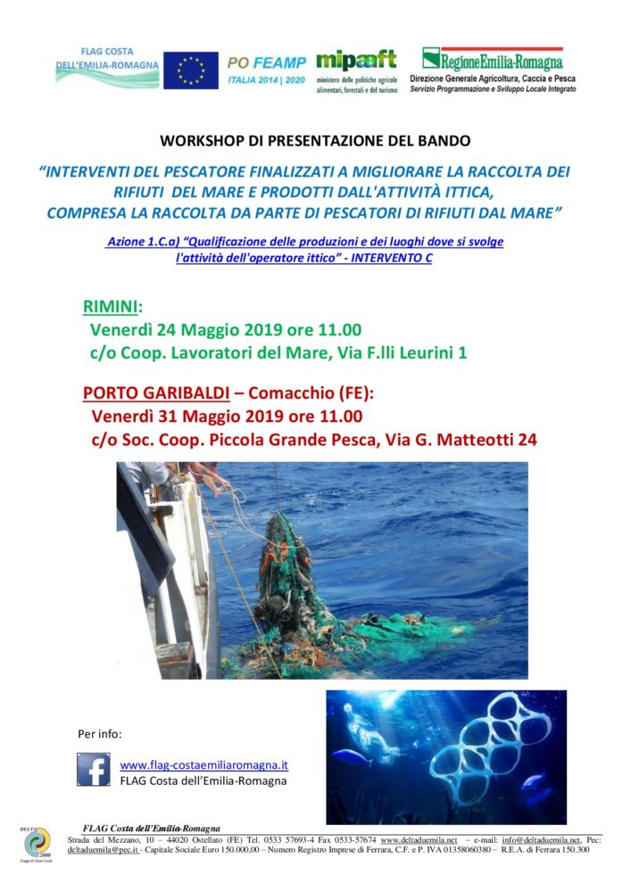 Workshop Bando Az. 1.C.a INT C - INTERVENTI DEL PESCATORE FINALIZZATI ALLA RACCOLTA DEI RIFIUTI DEL MARE