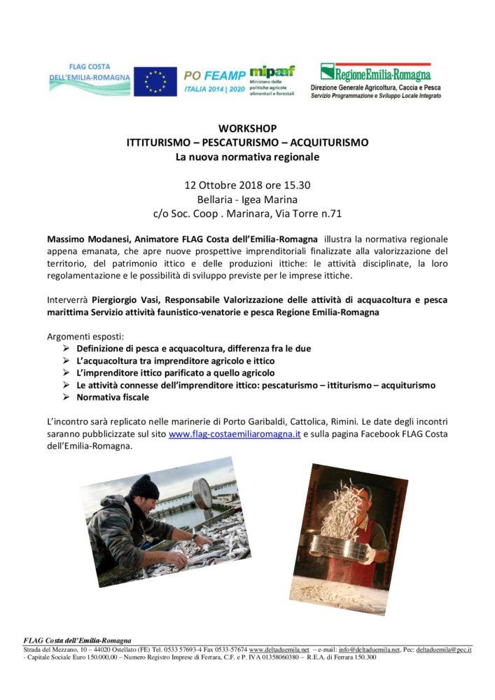 Workshop sull'ittiturismo, pescaturismo, aquiturismo
