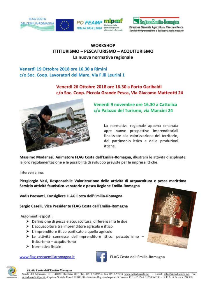Workshop Ittiturismo, pescaturismo, acquiturismo - Nuove date